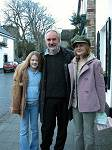 Alan Lee with Fairies World artist Myrea Pettit and Eleanor