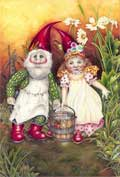 Gnomes near the mill stream by Myrea Pettit. Copyright© 2006 Fairies World