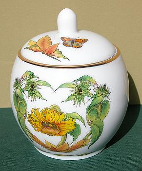 July Ceramic Ginger Jar Image by Myrea Pettit, Copyright© 2004 Fairies World®  Reproduction of these images in any form is strictly prohibited