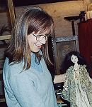 Marja Lee with a beautiful hand made exclusive doll crafted by Wendy Froud