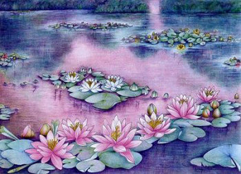 Monet Drawing by Myrea Pettit, Copyright© 2004 Fairies World