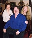 Myrea, Brian Froud and Hazel Brown in Brian's home in Devon UK.