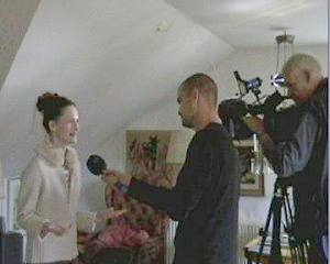 Myrea with Swedish TV Crew