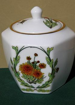 September Ceramic Ginger Jar Image by Myrea Pettit, Copyright© 2004 Fairies World®  Reproduction of these images in any form is strictly prohibited