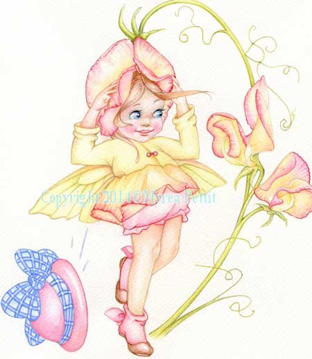 Sweet Pea Fairy Copyright � Myrea Pettit 2014