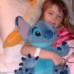 Aimee Butler unwell in hospital in Glasgow