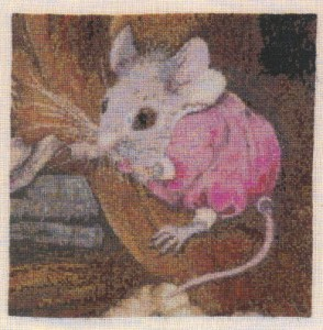 Fairy Library Needlework Mouse