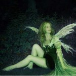 Myrea Pettit as a green fairy